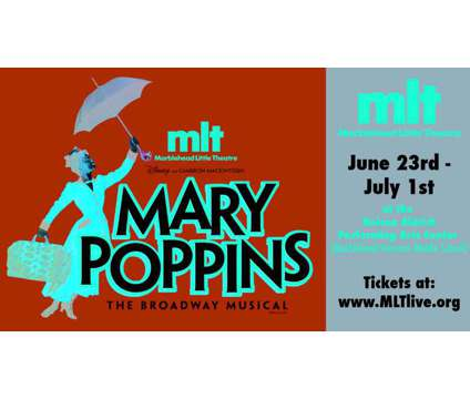 Marblehead Little Theatre Presents Mary Poppins is a Theater Ticket on Jun 23 in Marblehead MA