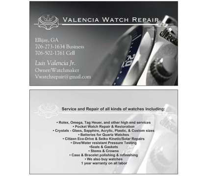 Watch Repair. Mechanical, Pocket watch, Quartz watches, Rolex, Omega + is a Other Services service in Ellijay GA