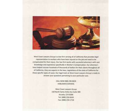 Job Injury Attorney is a Legal Services service in Covina CA