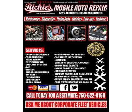 Richie's Mobile Auto Repair is a Auto Repair service in Oceanside CA