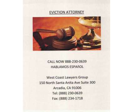 Eviction Attorney is a Legal Services service in Temple City CA