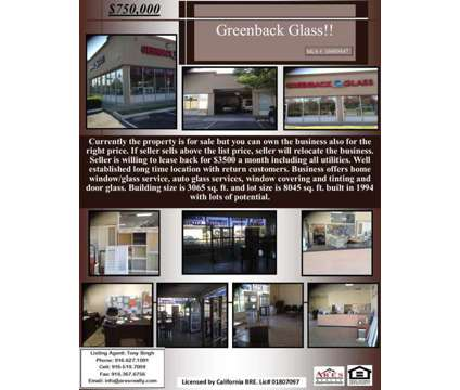 Greenback Glass at 7552 Greenback Ln in Elk Grove CA is a Commercial Real Estate