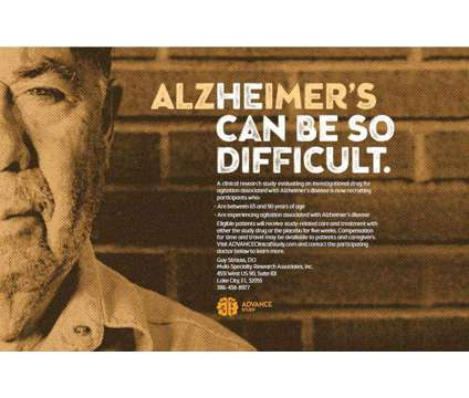 Seeking Alzheimer's patients and caregivers is a Elderly Care service in Lake City FL