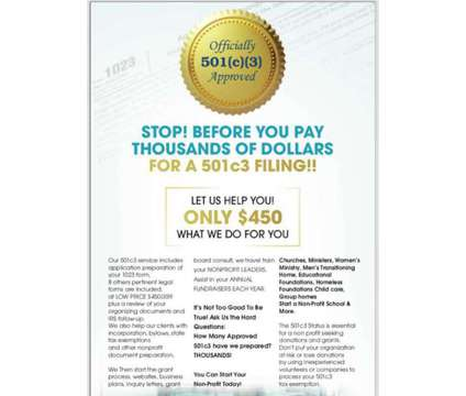 501(C)3 Help is a Company Notices, Tenders & Contracts listing in Houston TX