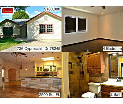 726 Cypress Hill Dr - Home for Sale 4/2/2 in San Antonio, TX 78245 at 726 Cypresshill Dr in San Antonio TX is a Single-Family Home