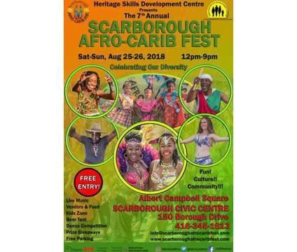 Scarborough Afro-Carib Fest is a Celebrations listing in Scarborough ON