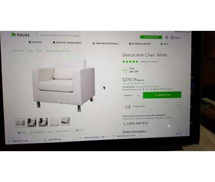 NEW White Sofa Chair, I have 2 is a White Chairs for Sale in Pacific Palisades CA