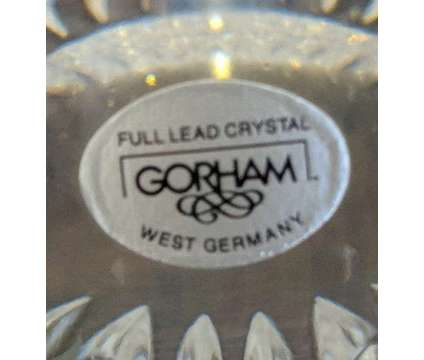 Gorham Crystal Bowl In Althea Pattern is a Collectibles for Sale in Novato CA