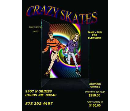 Crazy Skates is a Other Announcements listing in Hobbs NM