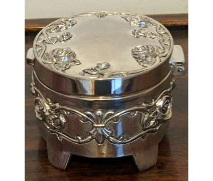 Vintage Silver Plated Jewelry/Trinket Box is a Blue Collectibles for Sale in Novato CA