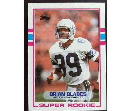 FREE - Seattle Seahawks Brian Blades football card is a Sports Memorabilias for Sale in Fremont CA