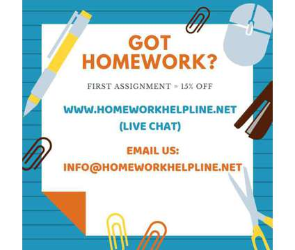 Homework Help. Assignments & Online Courses is a Private Instruction & Tutoring service in Toronto ON