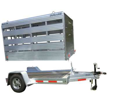 All aluminum mini livestock trailer that can also be a flatbed. Lightweight is a in Urbana IL