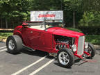 1932 Red Ford Roadster All Henry Steel Body