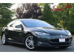 2013 Green Metallic Tesla Model S