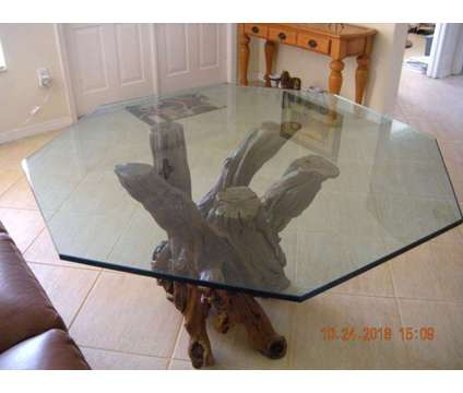 Driftwood Table With Glass Top. Custom Made, Unique is a Tables & Stands for Sale in Miami FL