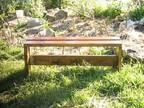 "Handcrafted Wooden Garden Bench 4 FT. / 48"" Long -"