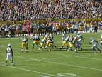 Packers vs. Raiders Short Row! -