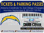 Arizona Cardinals San Diego Chargers Tickets and Parking Passes