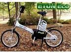 Eton Eco ELECTRIC folding bike NOS never used. NEW BATTERIES -
