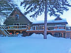 CUSTOM BUILT WATERFRONT LAKE HOUSE on BEAUTIFUL SHEBESHEKONG LAKE!