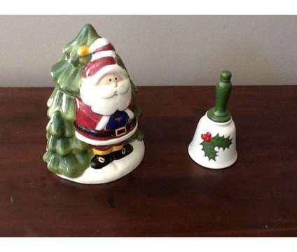 Santa Cookie Jar & Ceramic Bell is a Collectibles for Sale in Wescosville PA