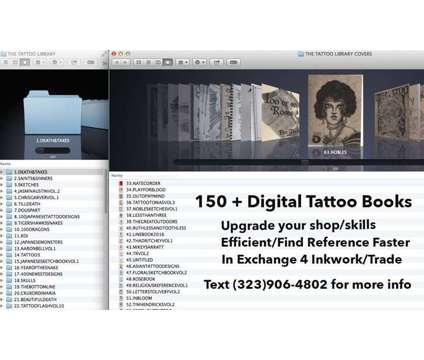 Digital Tattoo Library for Tattoo Artist/Tattoo shop is a Artist News & Announcements listing in Los Angeles CA