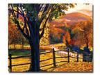 Trademark Fine Art 26 in. x 32 in. Autumn Fire Colors Canvas Art