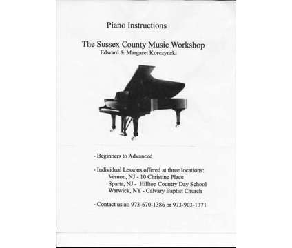 Piano Instruction is a Other Art News & Announcements listing in Sparta NJ