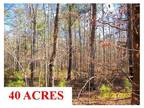 Columbus, MS Lowndes Country Land 40.000000 acre