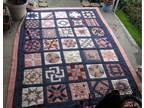 Vintage Large Quilt ~ Handmade ~ Hand Stitched ~~~*