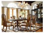 THOMASVILLE FURNITURE ERNEST HEMINGWAY CASTILLIAN DINING TABLE SET (cherryville)
