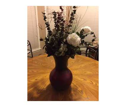 Burgundy Glass Vase/arrangement is a Home Decors for Sale in Wescosville PA