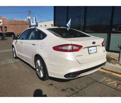 Used 2016 Ford Fusion 4dr Sdn AWD is a Silver, White 2016 Ford Fusion Car for Sale in Mahwah NJ