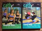 Cathe Friedrich Core And Muscle Max 2 DVD Lot
