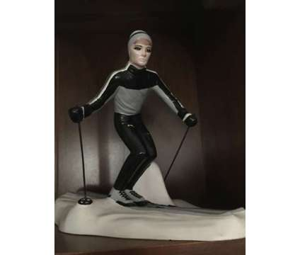 Ceramic Skier Statue is a Used Everything Else for Sale in Wescosville PA