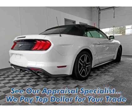 2018 Ford Mustang EcoBoost is a White 2018 Ford Mustang EcoBoost Car for Sale in Williamsville NY