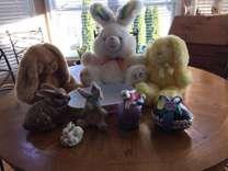 Plush Easter Bunnies & Decor