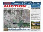 Absolute Real Estate Auction in Colorado for Land Lots