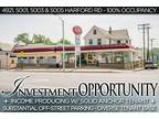 $629000 Commercial Property Consisting of 4 Lots & off Street Parking!
