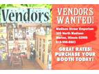 Vendors Booth Spaces For Rent..