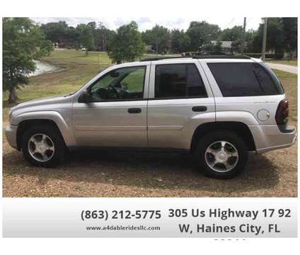 Used 2007 Chevrolet TrailBlazer for sale is a Silver 2007 Chevrolet trail blazer Car for Sale in Haines City FL