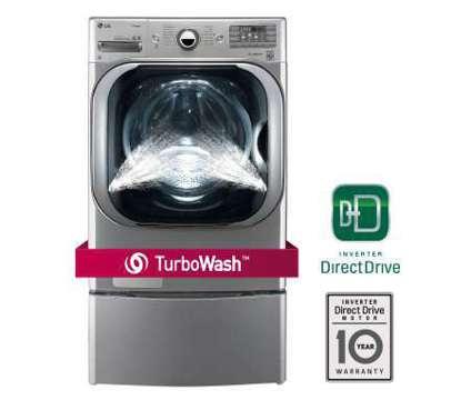 LG Washer & Dryer Premium Set - Mega Capacity Turbo Wash, Steam is a Washing Machines for Sale in Richardson TX