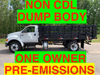 2007 White Ford F650/F750 NO CDL MULCH DUMP TRUCK ONE OWNER