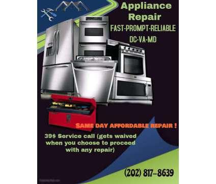 APPLIANCE REPAIR (washer, dryer, refrigerator, dishwasher, oven etc) (DC/MD/VA) is a Appliance Repair & Installation service in Arlington VA