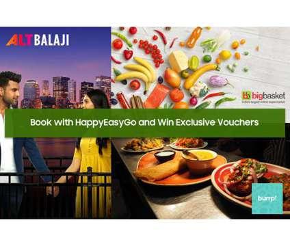 Win Burrp, ALT Balaji, Big Basket n more Vouchers with HappyEasyGo is a Travel Ticket in Delhi DL