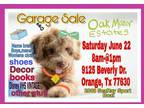 Garage Sale - June 22, 2019 - June 22, 2019