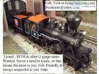 CASH for Lil Atlas O MTH Train