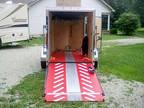 2019 5x8 V nose enclosed motorcycle trailer