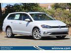2019 White Silver Volkswagen Golf SportWagen